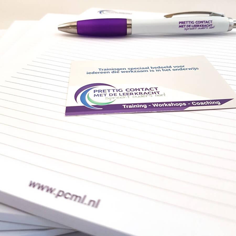 Weggevers bedrukt met logo