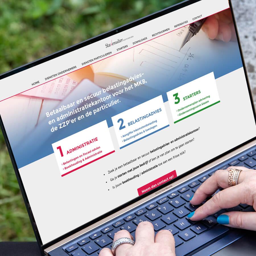 WordPress website ontwikkeling Stavenuiter Administratie